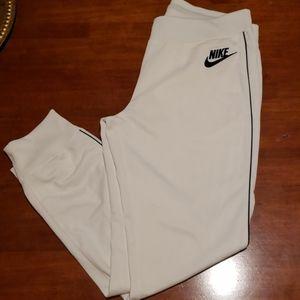 White Nike Joggers